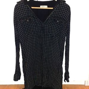 Abercrombie and Fitch flannel tunic